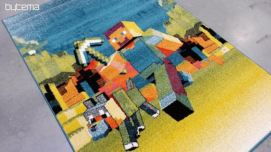 Detsk kusov koberec minecraft bytema - Minecraft kinderzimmer ...