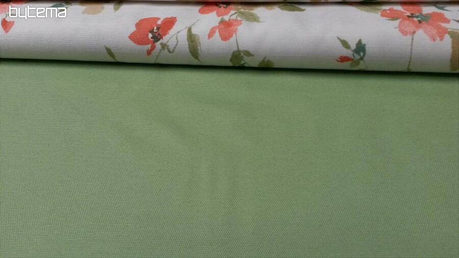 9f74c1253780 Jednofarebné dekoračné látky CERVANTES zelená 331