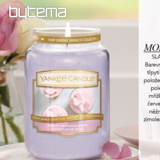 YANKEE CANDLE vôňa SWEET MORNING ROSE
